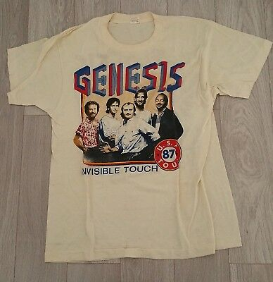 1987 GENESIS Rock Group USA Tour T-Shirt