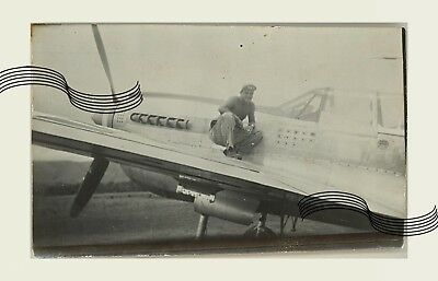 USAAF P-40 49th FG 7th Fighter Sqn Ace Jerry Johnson 1 ORIGINAL Photo