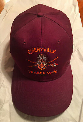 Trader Vic's EMERYVILLE ~ Embroidered Baseball Cap ~ Barely Worn & Adjustable