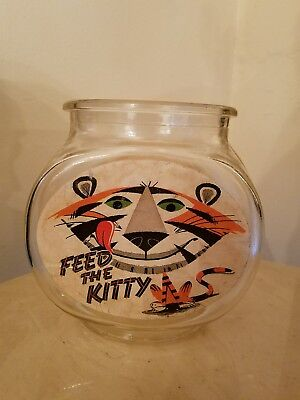 Kelloggs VINTAGE Feed The Kitty Fish Bowl Frosted Flakes Tony The Tiger 1960's