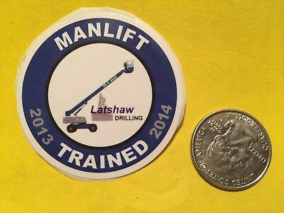 Latshaw Drilling Manlift Trained 2013 2014 Hardhat Ruffneck Oilfield Gas Well