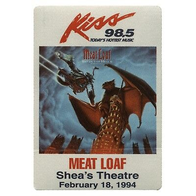 Meat Loaf authentic 1994 Everything Louder tour satin cloth Backstage Pass Promo