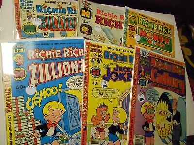 Richie Rich Collector Comic Lot of 6-Cadbury, Billions, Jackie Jokers, Riches++