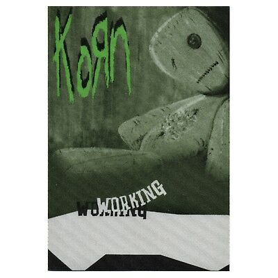 Korn authentic 2000 Issues Tour satin cloth Backstage Pass band sticky crew