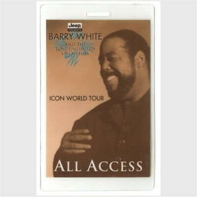 Barry White authentic 1995 concert Laminated Backstage Pass Icon Tour ALL ACCESS