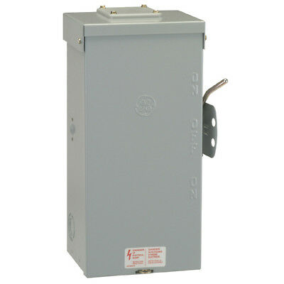 GE 100 Amp Outdoor 240-Volt Non-Fused Emergency Power Transfer Safety Switch,NEW