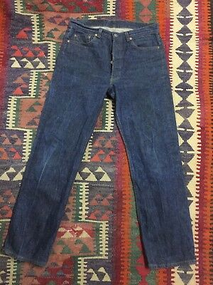 VINTAGE 1980s LEVI'S 501 USA HAIRY 35 X 34 LIKE NEW BUTTON DARK NOT SELVEDGE
