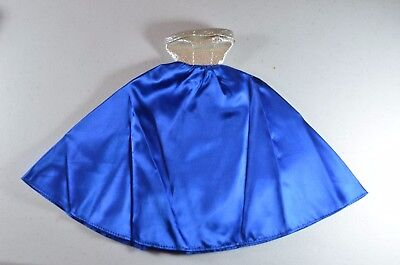 Vintage Barbie Midnight Blue #1617 (1965) Blue Stain & Silver Lame Gown