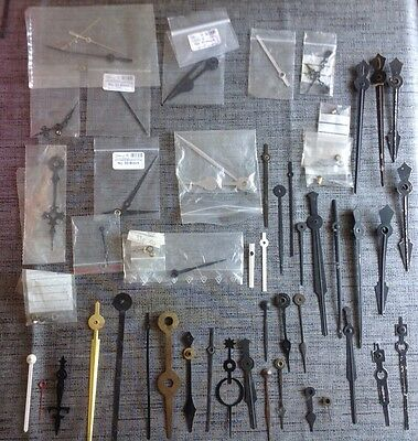 Antique Clock Hands Job Lot Approx 60 Assorted Pairs And  Singles