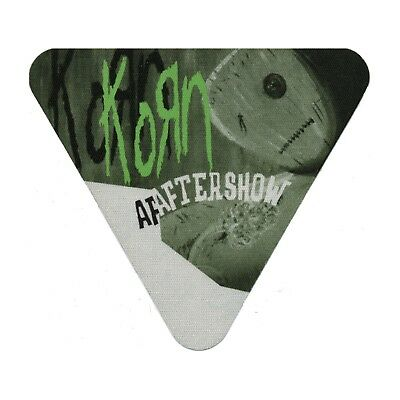 Korn authentic 2000 Issues Tour satin cloth Backstage Pass band sticky