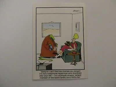 """Vintage /""""The FAR SIDE/"""" 1984 Greeting Card /""""Ugly Chicken Feet Couple/""""  MINT"""