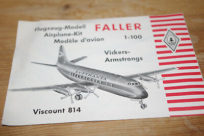 Faller ams Anleitung Vickers Armstrongs Flugzeug Lufthansa Viscount 814