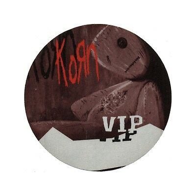 Korn authentic 2000 Issues Tour satin cloth Backstage Pass band sticky VIP