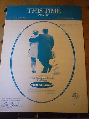 Peter Ustinov - Maggie Smith - Laurie Johnson - Partition - Sheet Music