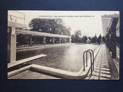 New Orleans Country Club Swimming Pool LA Louisiana  Vintage Postcard