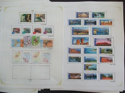 ESTATE: Australia decimal collection 2000 - 2003 on pages Great Item  (3285)