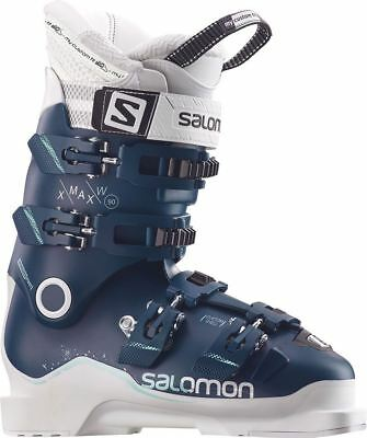 Salomon X Max 90 W 2018 Womens Ski Boots Petrol Blue/White
