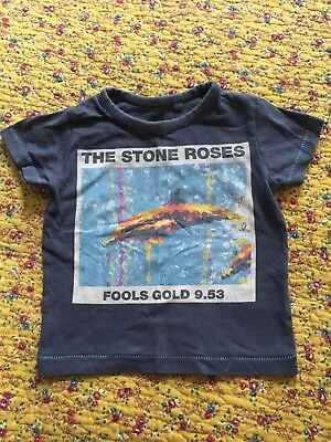 Stone Roses Grey Fools Gold Baby Band Shirt From Next 6-9 Months