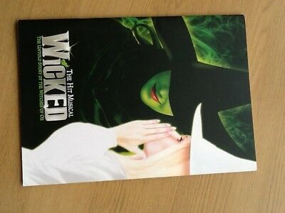 wicked the hit musical london programme