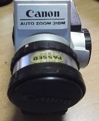 Canon Auto Zoom 318M Classic Video Camera Años 60 Con su funda.