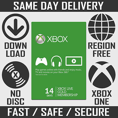 Xbox Live Gold Membership - 14 Days / 2 Weeks Trial for Xbox One & Xbox 360
