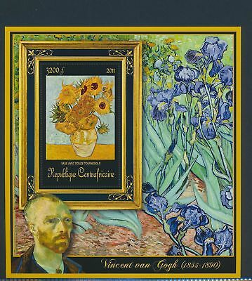 XA82086 Central Africa 2011 Vincent van Gogh art paintings XXL sheet MNH