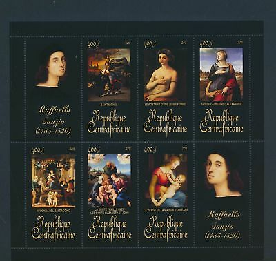XA82093 Central Africa 2011 Raffaello Sanzio art paintings XXL sheet MNH