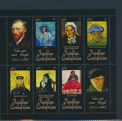 XA82096 Central Africa 2011 Vincent van Gogh art paintings XXL sheet MNH