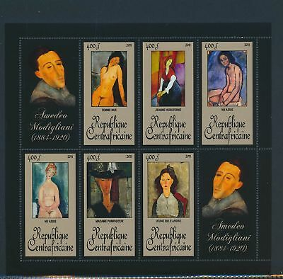 XA82101 Central Africa 2011 Amadeo Modigliani art paintings XXL MNH