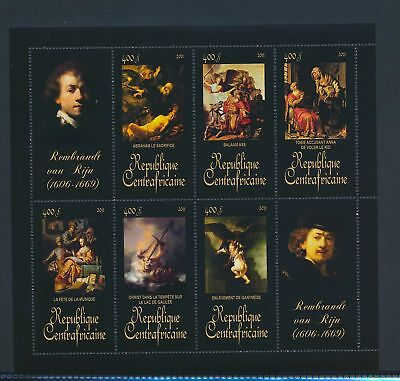 XA82105 Central Africa 2011 Rembrandt van Rijn art paintings XXL MNH