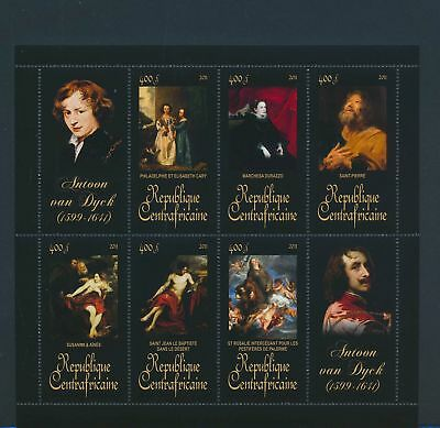 XA82106 Central Africa 2011 Antoon van Dyck art paintings XXL sheet MNH