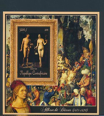 XA82148 Central Africa 2011 Albrecht Dürer art paintings XXL sheet MNH