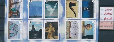 LH13081 Belgium 2014 René Magritte art sheet MNH face value 7,9 EUR