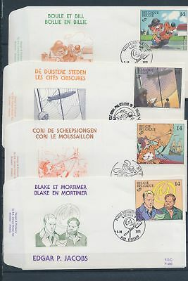 XA78792 Belgium 1991 cartoons comics FDC's used