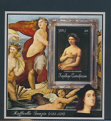 XA82164 Central Africa 2011 Raffaello Sanzio art paintings XXL sheet MNH