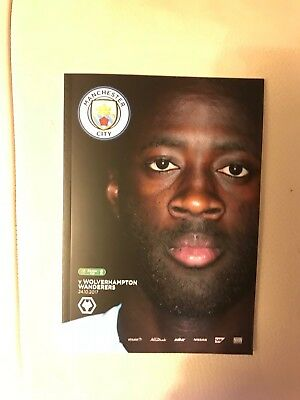 Manchester City FC v Wolverhampton Wanderers FC Programme (Season 2017-2018)