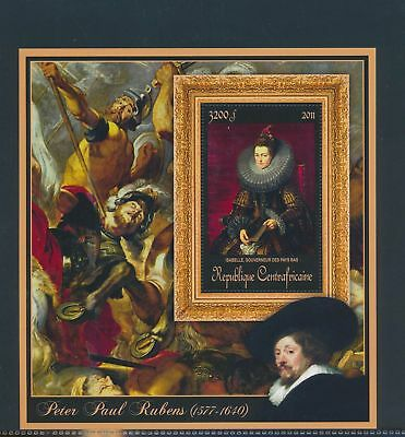 XA82174 Central Africa 2011 Peter Paul Rubens art paintings XXL sheet MNH