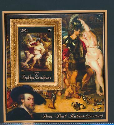 XA82178 Central Africa 2011 Peter Paul Rubens art paintings XXL sheet MNH