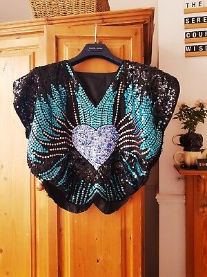 Vintage Sequin Retro Top- bought for £45 in vintage shop recently