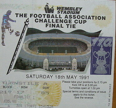 Ticket Nottingham Forest v Tottenham Hotspur FA Cup Final at Wembley 1990/91