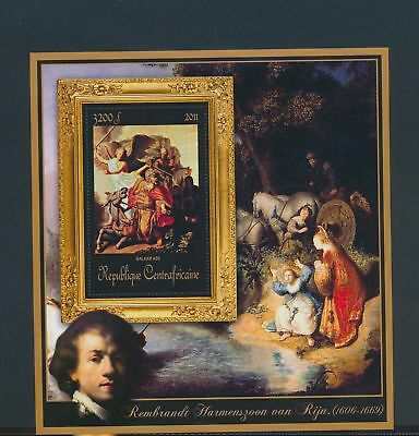 XA82218 Central Africa 2011 Rembrandt van Rijn art paintings XXL MNH