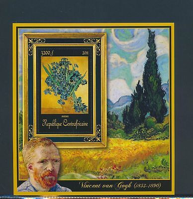 XA82212 Central Africa 2011 Vincent van Gogh art paintings XXL sheet MNH