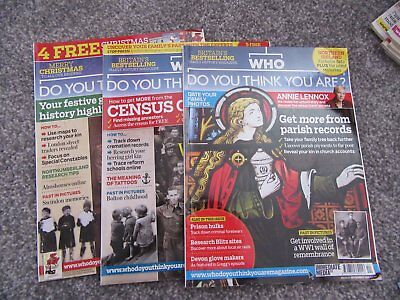 Selection of 3   BBC WHO Do You Think You Are Magazines 2012