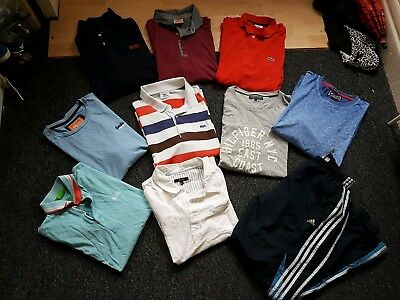 Large Designer Mens Clothes Size L-Xl Lacoste Hugo Boss Adidas Tommy Hilfiger...