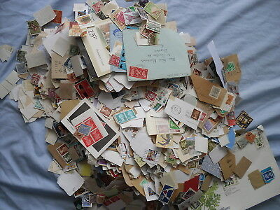 Lot 2 Over 2LB of GB and world Stamps