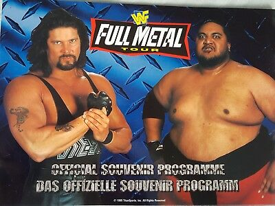 WWE / WWF Full Metal Tour Programme 1995 UK