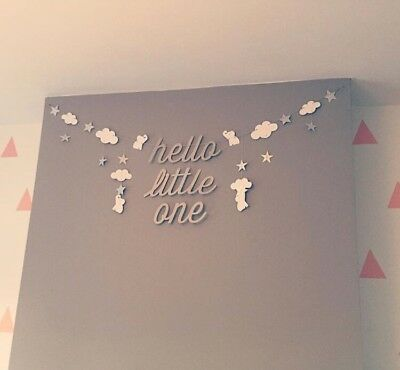 The Little White Company 'Hello Little One' Garland Baby Shower Nursery Gift