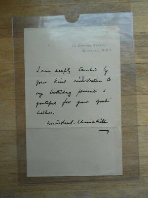 Signed Letter from Winston Churchill 1954 limited printed edition Downing Street