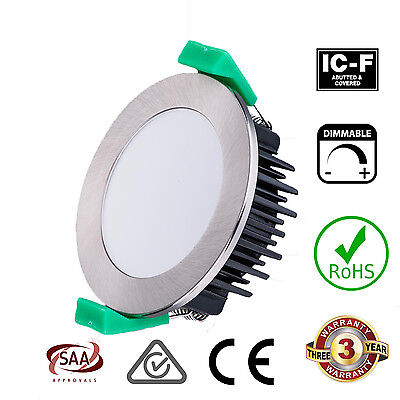10W LED Downlight DIMMABLE Warm White or Cool White, Chrome or White