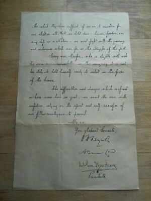 Signed Letter WW1 1914 by H.H.Asquith to Enlist Men in Army - War Office printed
